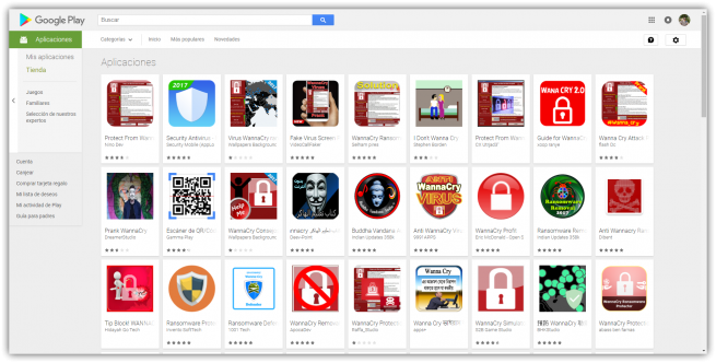 Junk apps WannaCry Play Store Android