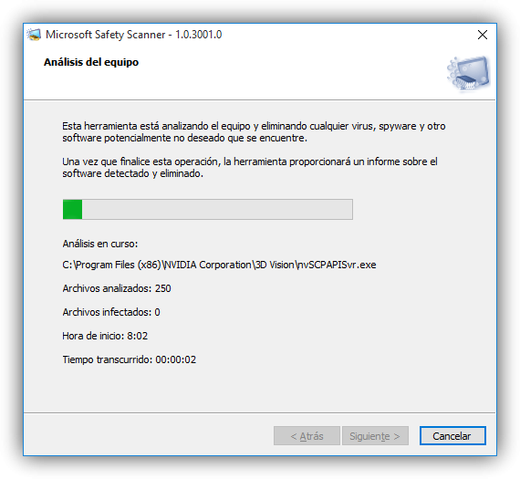Analyzing the system with Microsoft Safety Scanner